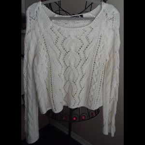 Chic & Trendy Cable Knit with silver accents